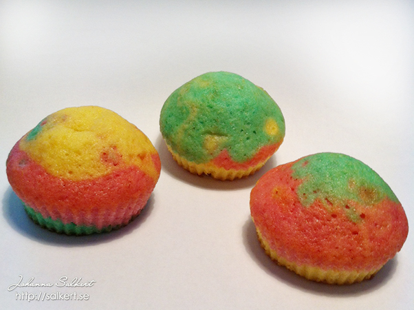 Rainbow cupcakes Light (bara 3 färger)